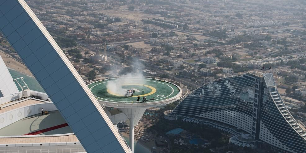 Red Bull Racing Celebrates World Championships with Obnoxiously Cool Donuts atop Luxury Hotel