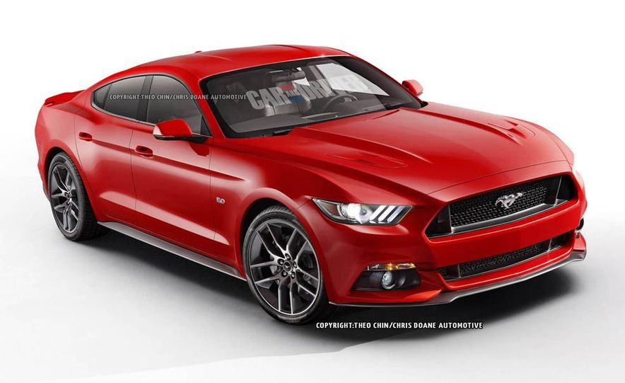 2015 Ford Mustang sedan (artist's rendering) - Slide 1