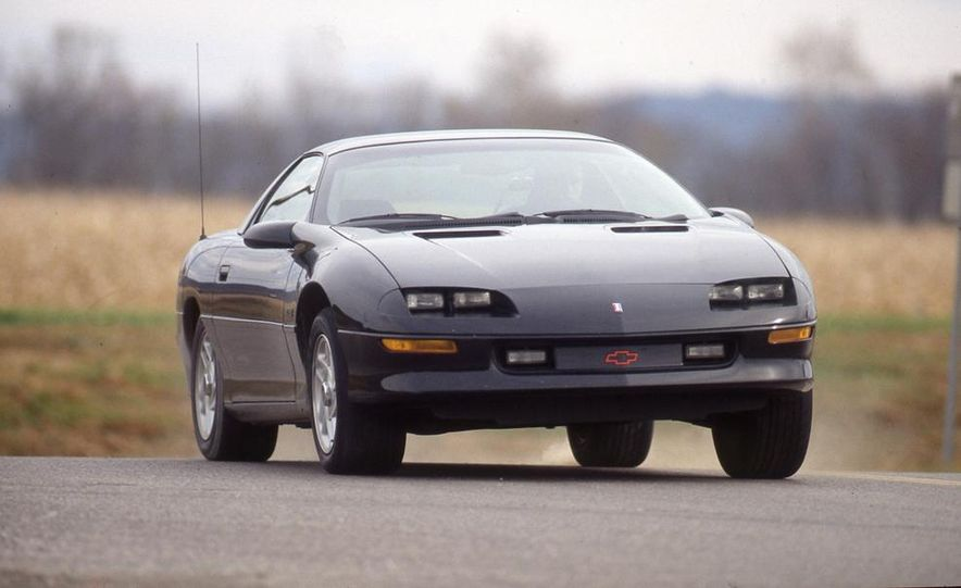 1993 Chevrolet Camaro Z28, 1993 Pontiac Firebird Formula, and 1993 Ford Mustang Cobra - Slide 4