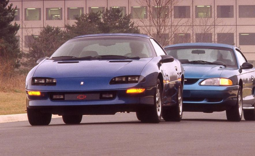 1994 Chevrolet Camaro V-6 vs. 1994 Ford Mustang V-6 - Slide 1