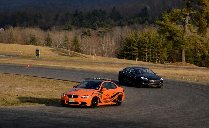 BMW M3 coupe Lime Rock Edition and 2013 Tesla Model S P85 - Slide 1