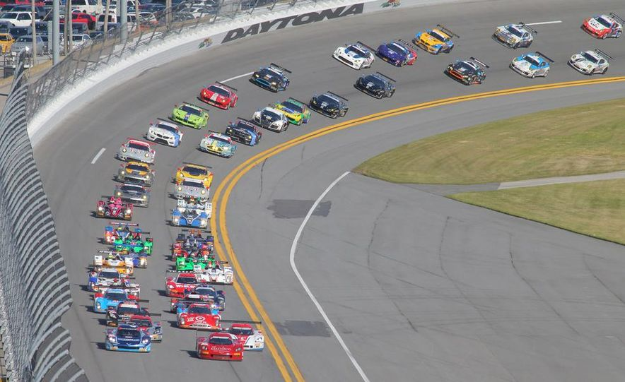 Rolex 24, Day 1: Corvettes Impress, Scary Crash Red Flags Race for 1.5 Hours - Slide 1