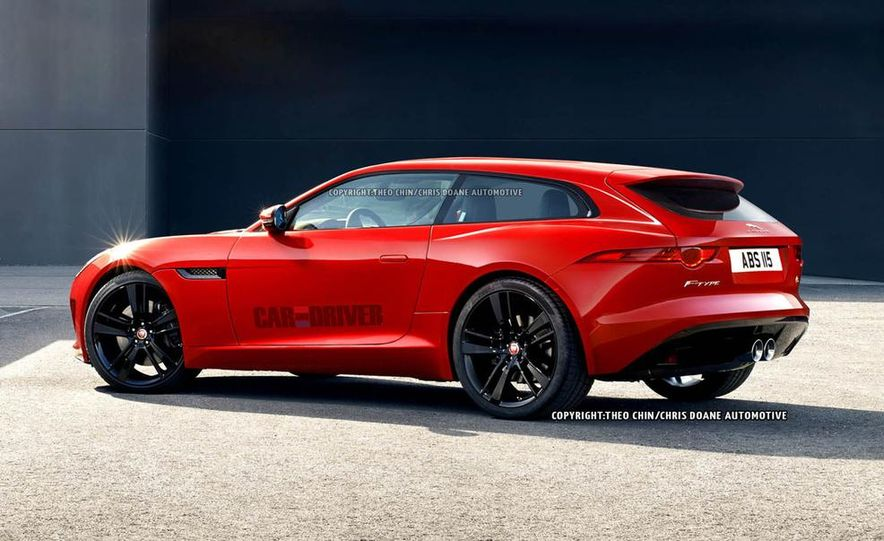 Jaguar F-type Shooting Brake (artist's rendering) - Slide 1