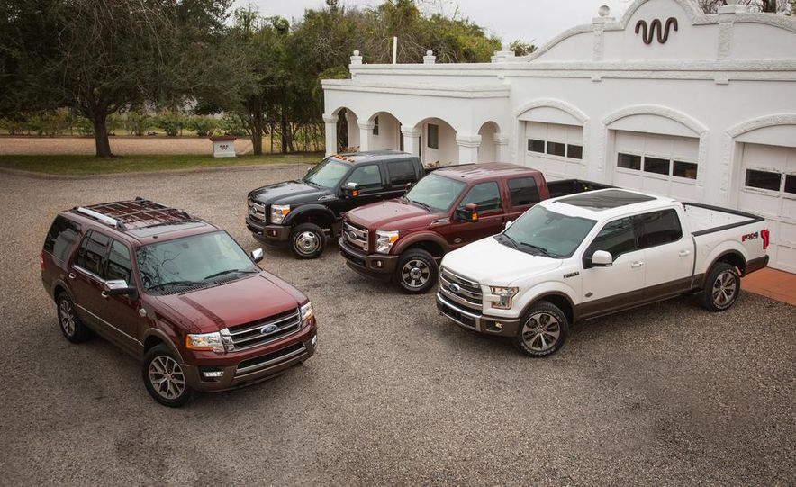 2015 Ford Expedition King Ranch, F-350 Super Duty King Ranch Crew Cab, F-250 Super Duty King Ranch Crew Cab, and F-150 King Ranch Crew Cab - Slide 1