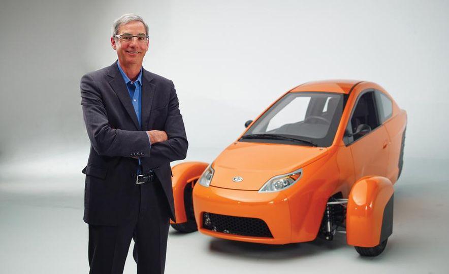 Paul Elio with the Elio Motors 3-wheeled prototype - Slide 3