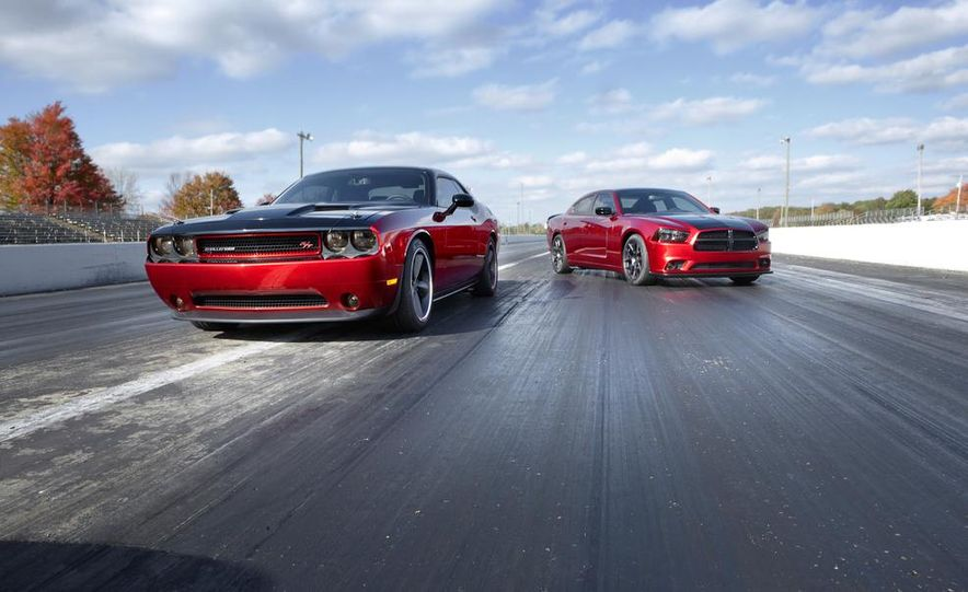 2014 Dodge Challenger R/T with Scat package and 2014 Dodge Charger R/T with Scat package - Slide 1
