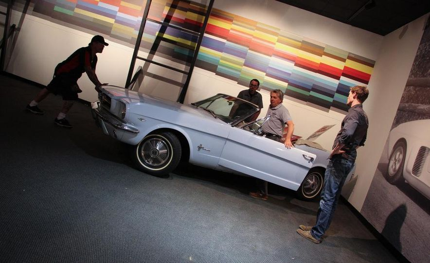 """1965 """"Reagan Mustang"""" moves into place. - Slide 1"""