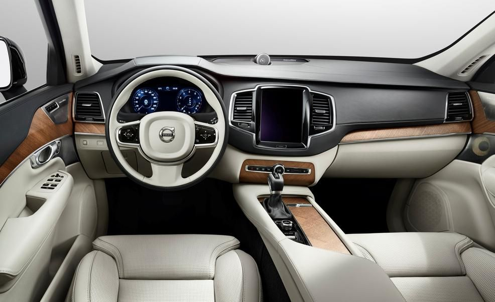 volvo xc90 interior 2016. the inverted striptease starts now volvo reveals 2016 xc90 interior xc90 car and driver blog