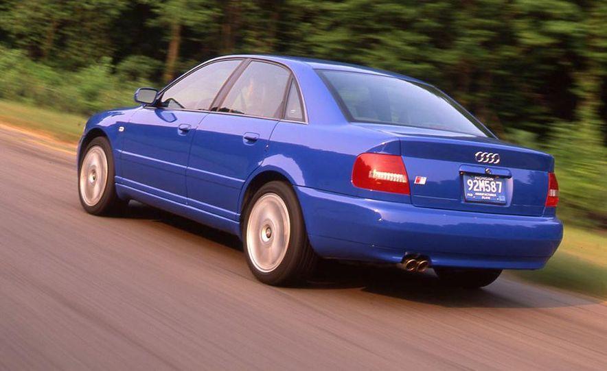 Audi S4 Quattro, Mercedes-Benz C43 AMG, Saab 9-3 Viggen, and BMW M3 - Slide 18
