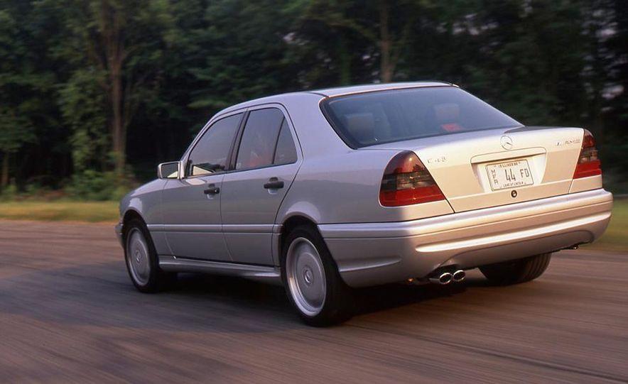 Audi S4 Quattro, Mercedes-Benz C43 AMG, Saab 9-3 Viggen, and BMW M3 - Slide 3