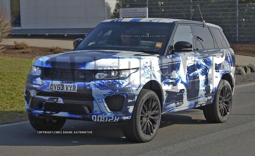 2015 Land Rover Range Rover Sport SVR (spy photo) - Slide 2