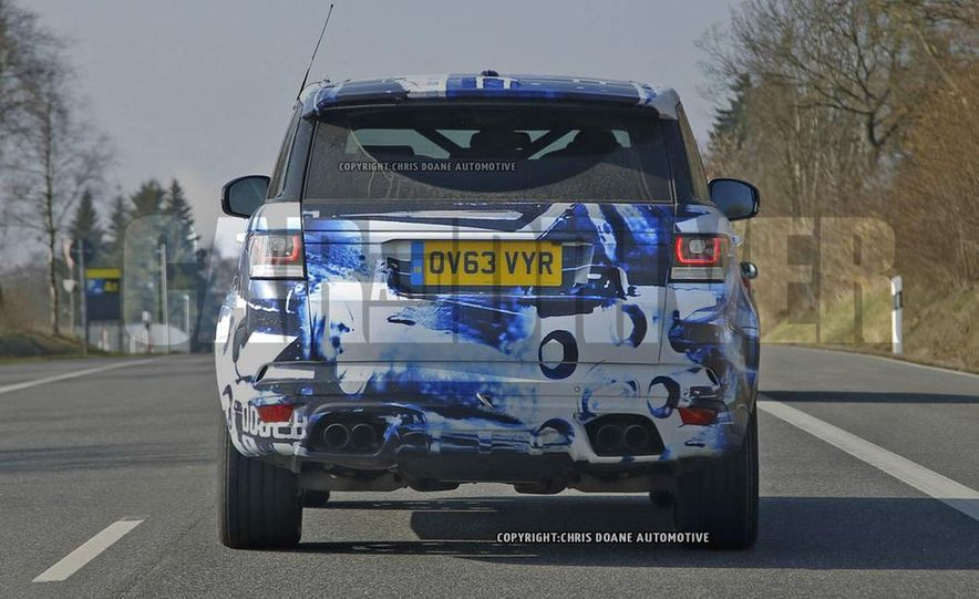 2015 Land Rover Range Rover Sport SVR (spy photo) - Slide 8