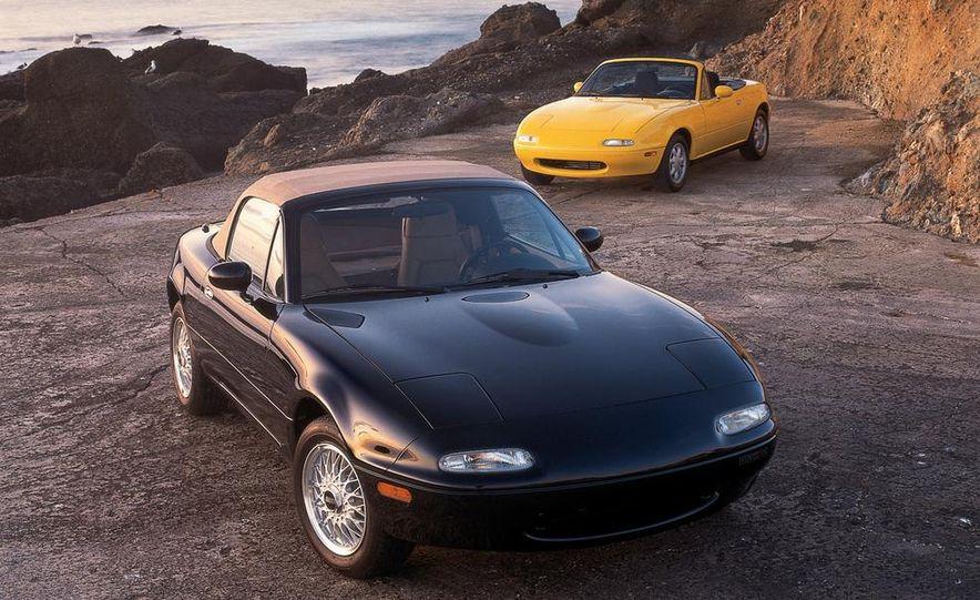 1995 Mazda MX-5 Miata M Edition and MX-5 Miata models shown - Slide 1