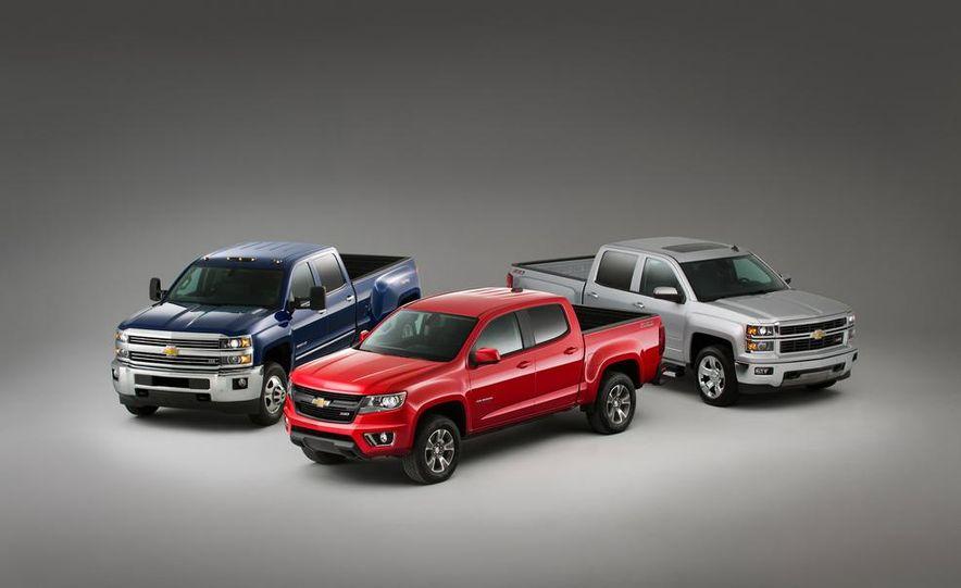 2015 Chevrolet Silverado 3500 HD LTZ, 2015 Chevrolet Colorado Z71, and 2015 Chevrolet Silverado 1500 LTZ Z71 - Slide 1