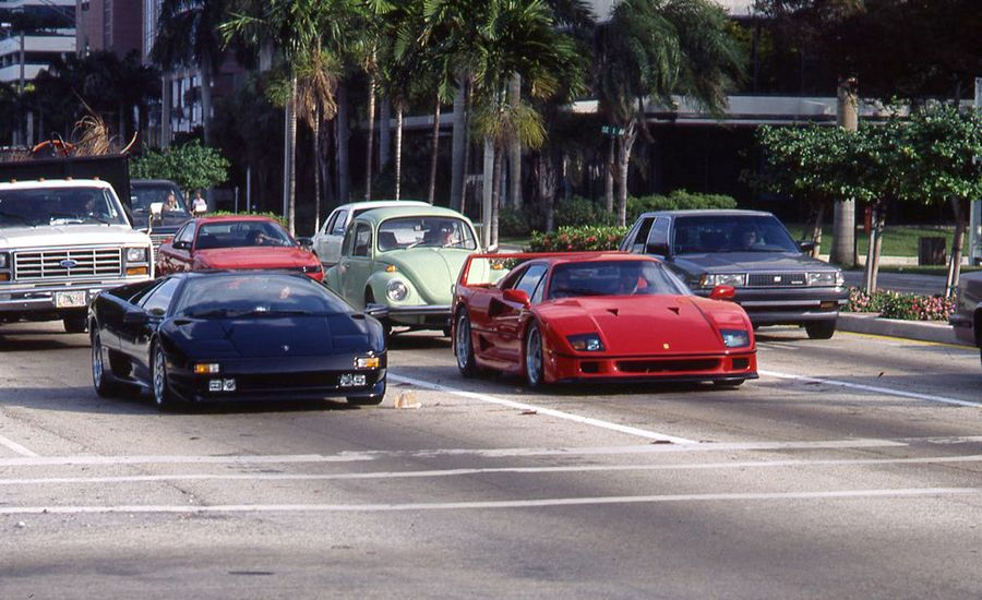 Judgment Day: Ferrari F40 Meets Lamborghini Diablo