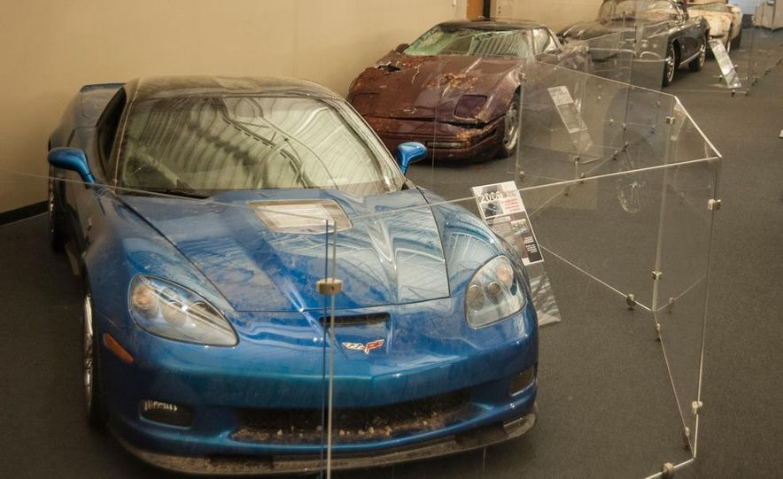"2009 Chevrolet Corvette ZR-1 ""Blue Devil"" Prototype, 1993 40th Anniversary coupe, 1962 Corvette, and 1992 One Millionth Corvette - Slide 1"
