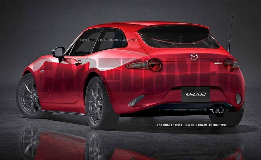 Mazda MX-5 Miata shooting brake (artist's rendering) - Slide 3