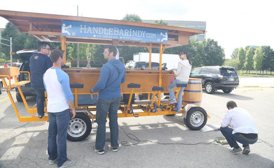 Beer Run: We Test the PedalPub, a 16-Person Alcohol-Fueled Party Bike - Slide 1