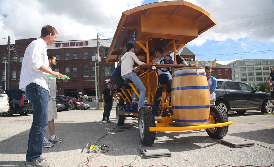 Beer Run: We Test the PedalPub, a 16-Person Alcohol-Fueled Party Bike - Slide 2