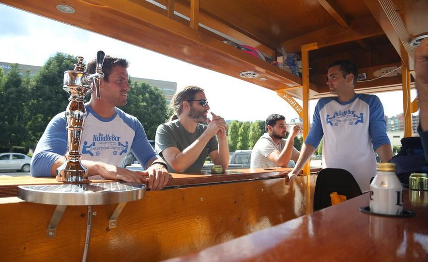 Beer Run: We Test the PedalPub, a 16-Person Alcohol-Fueled Party Bike - Slide 8