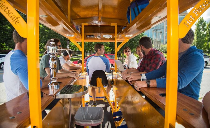 Beer Run: We Test the PedalPub, a 16-Person Alcohol-Fueled Party Bike - Slide 11
