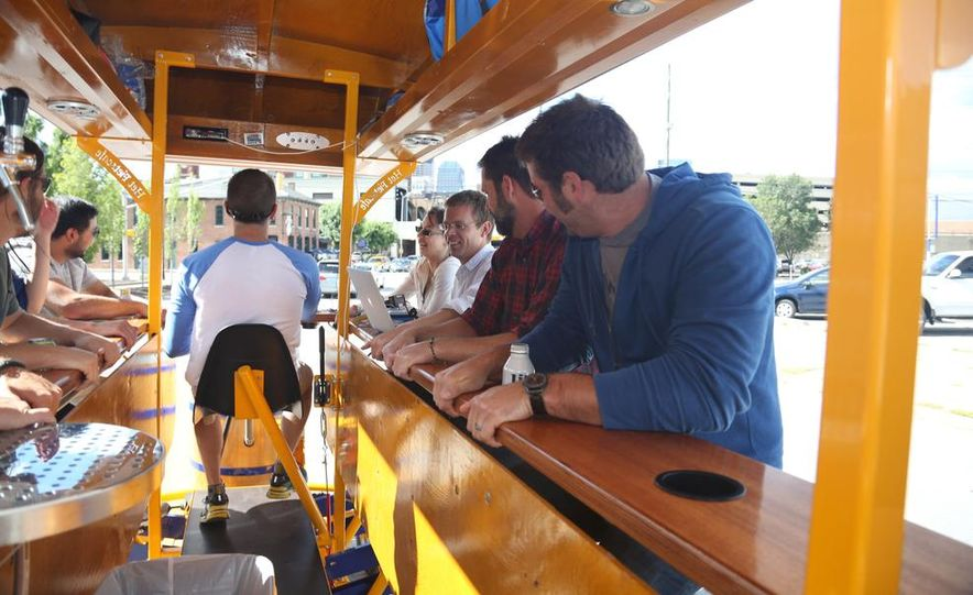 Beer Run: We Test the PedalPub, a 16-Person Alcohol-Fueled Party Bike - Slide 12