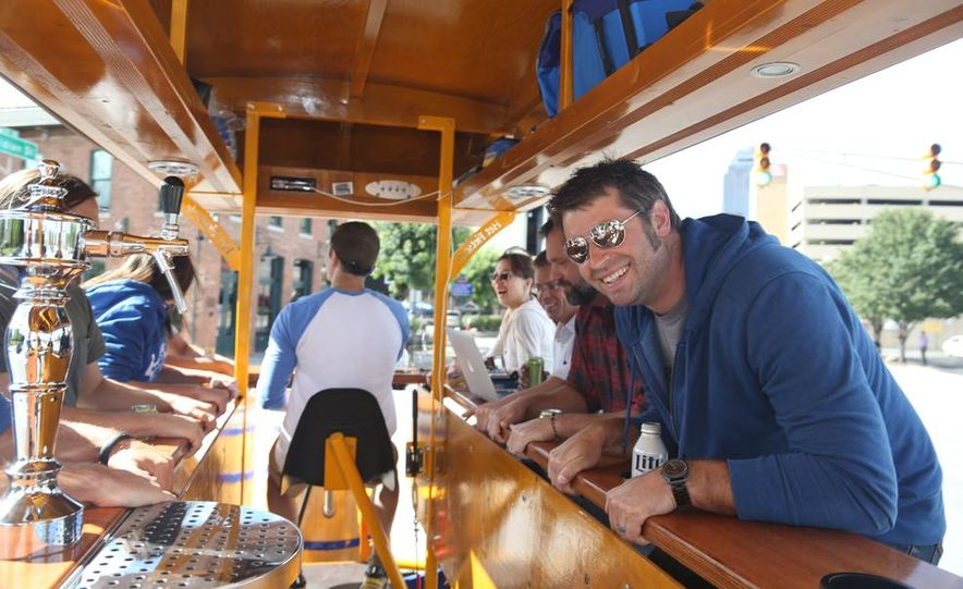Beer Run: We Test the PedalPub, a 16-Person Alcohol-Fueled Party Bike - Slide 13
