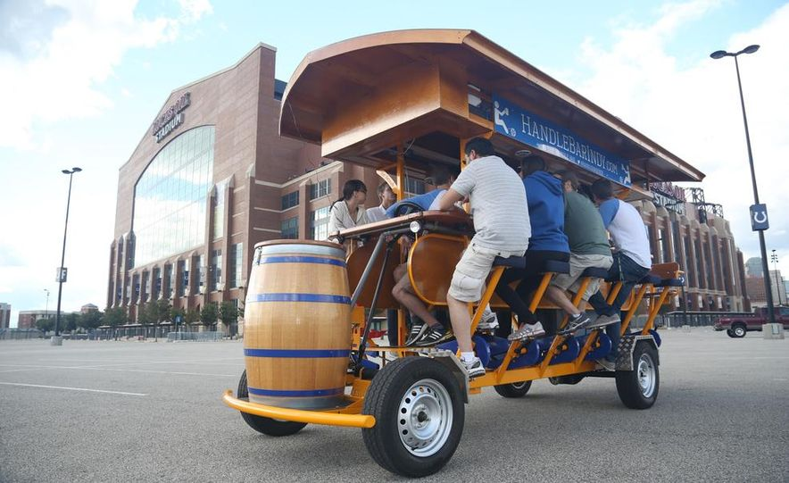 Beer Run: We Test the PedalPub, a 16-Person Alcohol-Fueled Party Bike - Slide 14