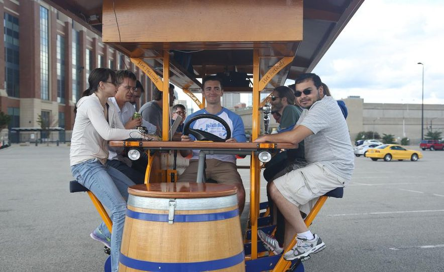 Beer Run: We Test the PedalPub, a 16-Person Alcohol-Fueled Party Bike - Slide 15
