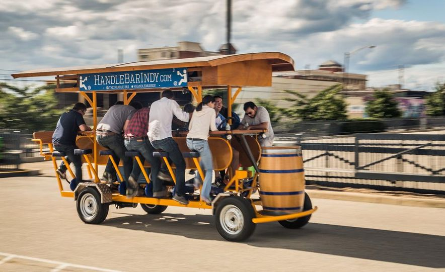 Beer Run: We Test the PedalPub, a 16-Person Alcohol-Fueled Party Bike - Slide 17
