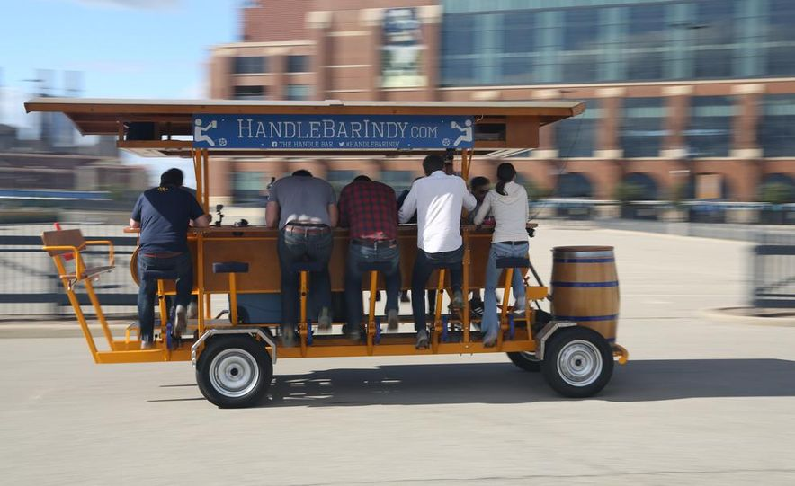 Beer Run: We Test the PedalPub, a 16-Person Alcohol-Fueled Party Bike - Slide 18