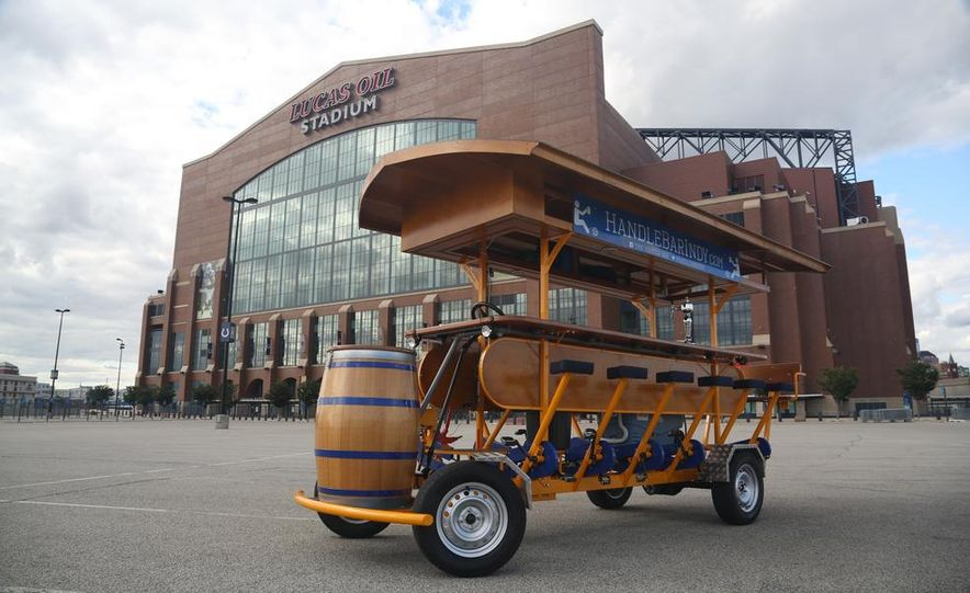 Beer Run: We Test the PedalPub, a 16-Person Alcohol-Fueled Party Bike - Slide 20
