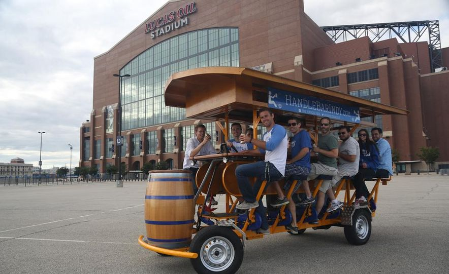 Beer Run: We Test the PedalPub, a 16-Person Alcohol-Fueled Party Bike - Slide 21