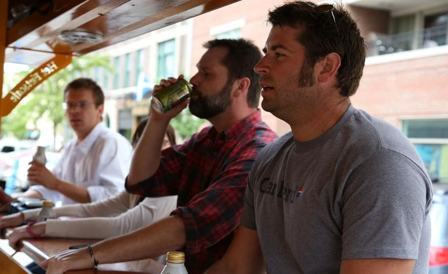 Beer Run: We Test the PedalPub, a 16-Person Alcohol-Fueled Party Bike - Slide 25