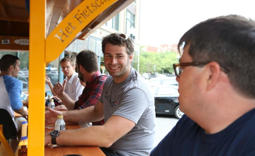 Beer Run: We Test the PedalPub, a 16-Person Alcohol-Fueled Party Bike - Slide 28