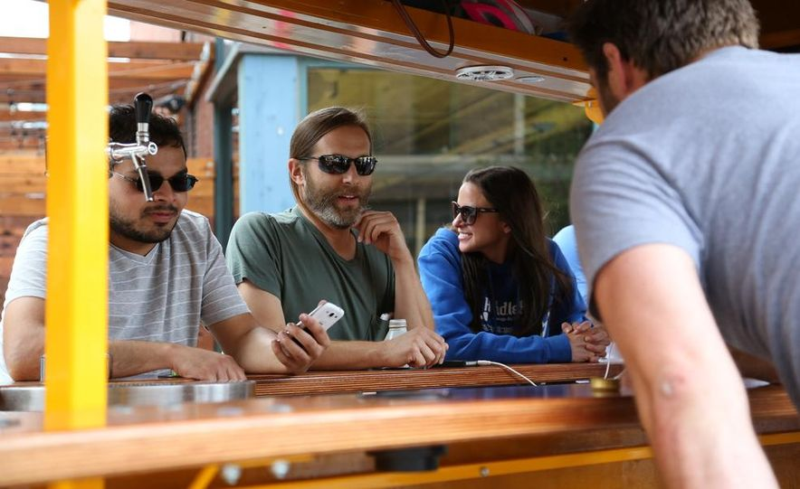 Beer Run: We Test the PedalPub, a 16-Person Alcohol-Fueled Party Bike - Slide 29