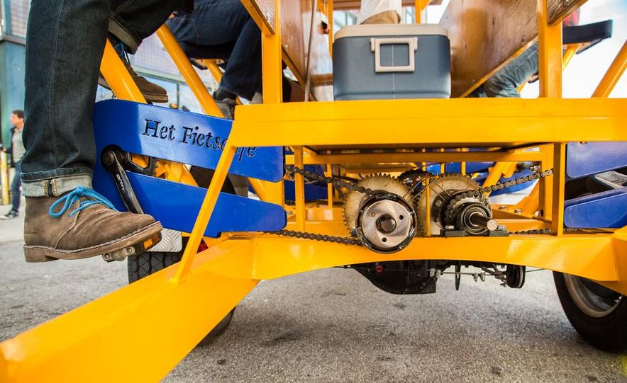 Beer Run: We Test the PedalPub, a 16-Person Alcohol-Fueled Party Bike - Slide 37