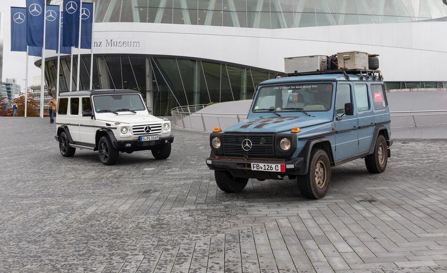 """2015 Mercedes-Benz G550 35th Anniversary Edition and 1988 Mercedes-Benz G-class """"Otto"""" - Slide 1"""