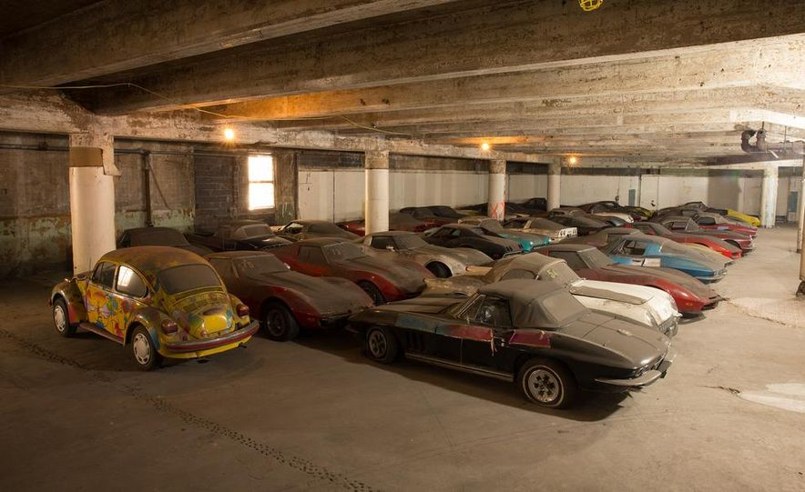 Peter Max Corvette Collection Exhumed from Parking-Garage Purgatory - Slide 1