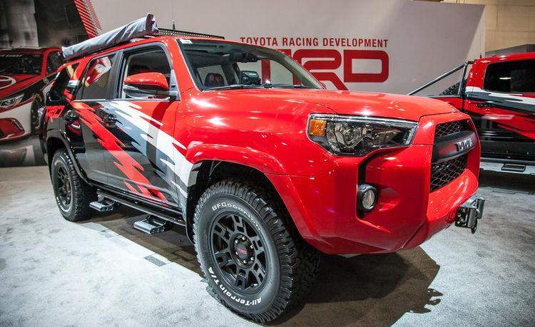 Toyota Brings Baja-Ready 4Runner, Tacoma, and Tundra Chase Trucks to SEMA