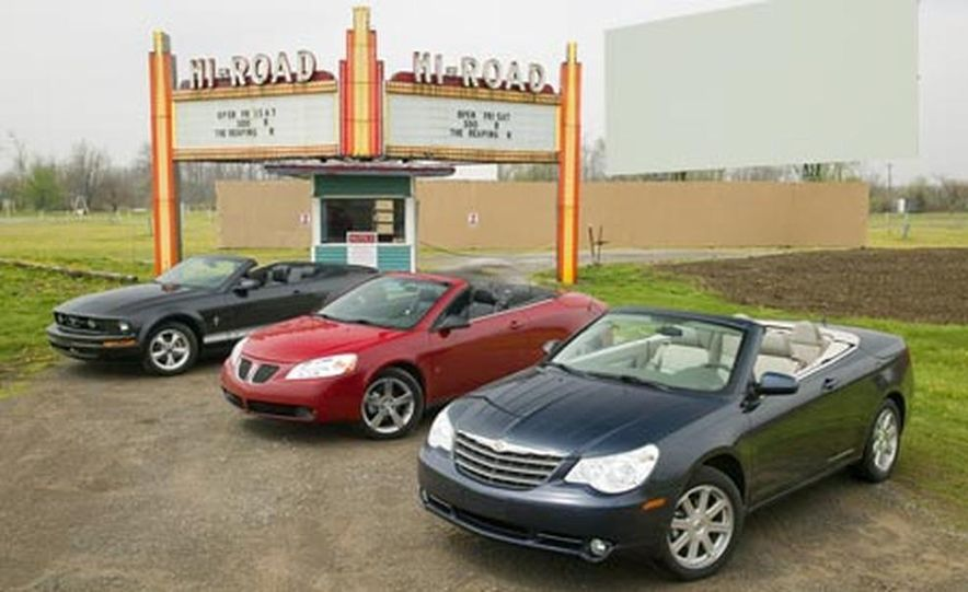 2008 Chrysler Sebring Touring, 2007 Ford Mustang, and 2007 Pontiac G6 GT - Slide 1