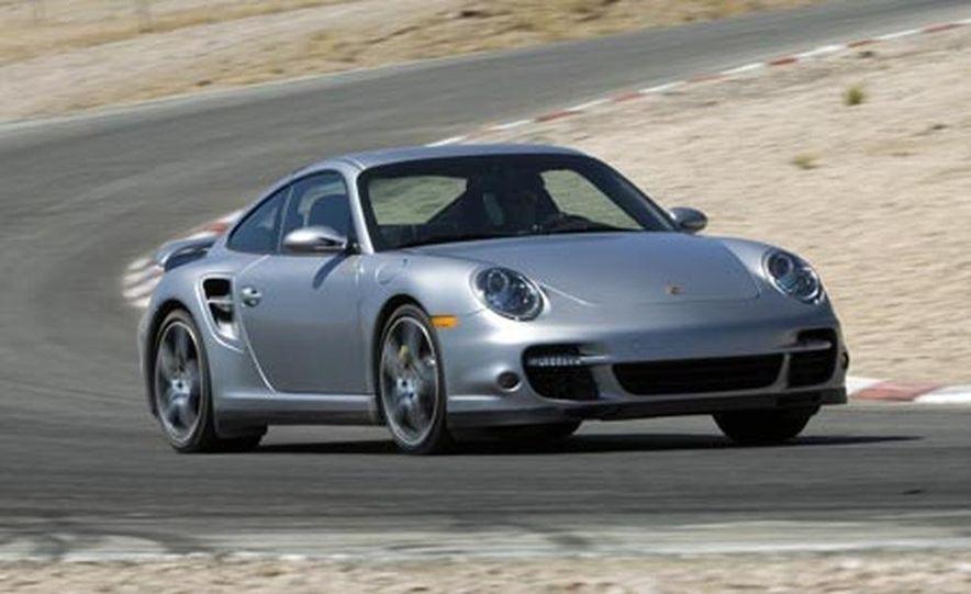 2007 Aston Martin V-8 Vantage, 2007 Porsche 911 Turbo, and 2008 Audi R8 - Slide 11