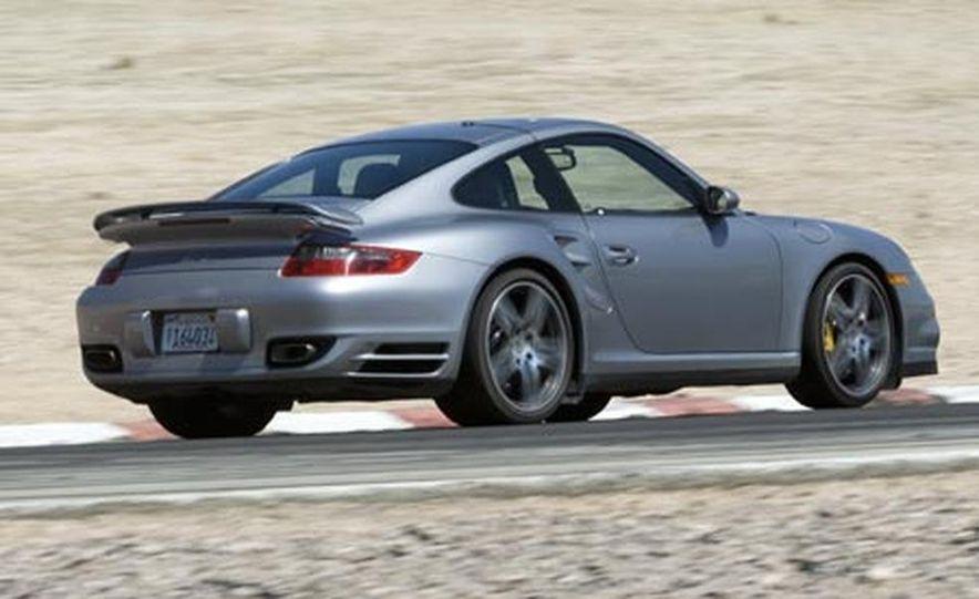 2007 Aston Martin V-8 Vantage, 2007 Porsche 911 Turbo, and 2008 Audi R8 - Slide 12
