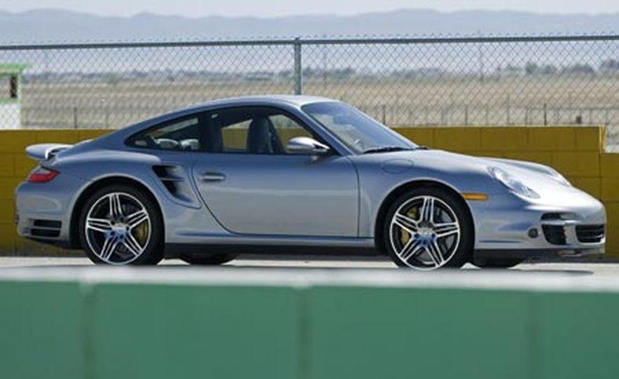 2007 Aston Martin V-8 Vantage, 2007 Porsche 911 Turbo, and 2008 Audi R8 - Slide 13