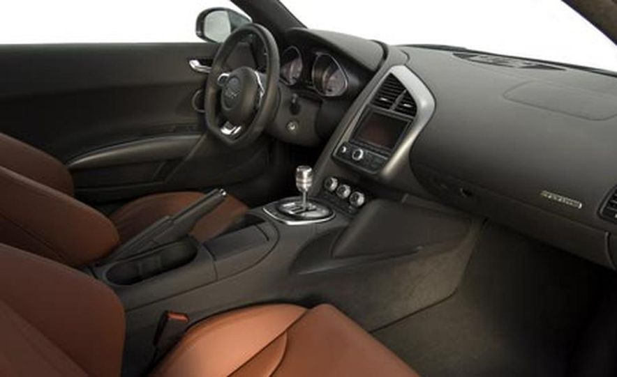 2007 Aston Martin V-8 Vantage, 2007 Porsche 911 Turbo, and 2008 Audi R8 - Slide 20