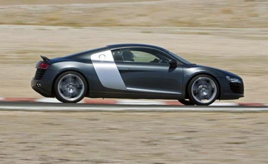 2007 Aston Martin V-8 Vantage, 2007 Porsche 911 Turbo, and 2008 Audi R8 - Slide 17