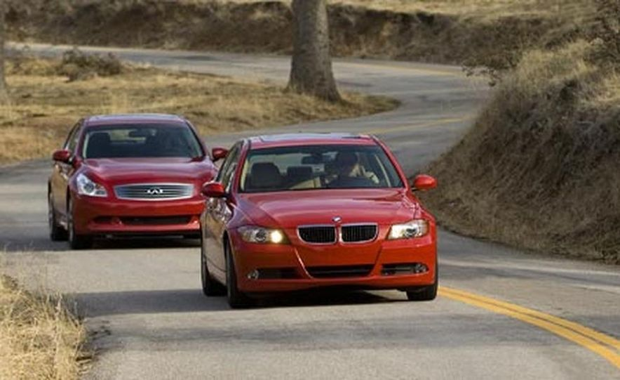 2007 BMW 328i and Infiniti G35 - Slide 2