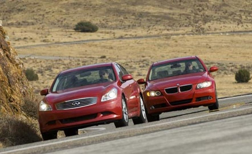 2007 BMW 328i and Infiniti G35 - Slide 10