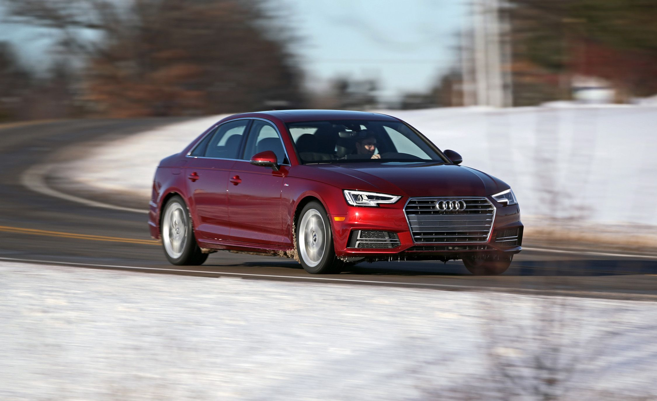 Audi A InDepth Model Review Car And Driver - 2018 audi a4 s line specs