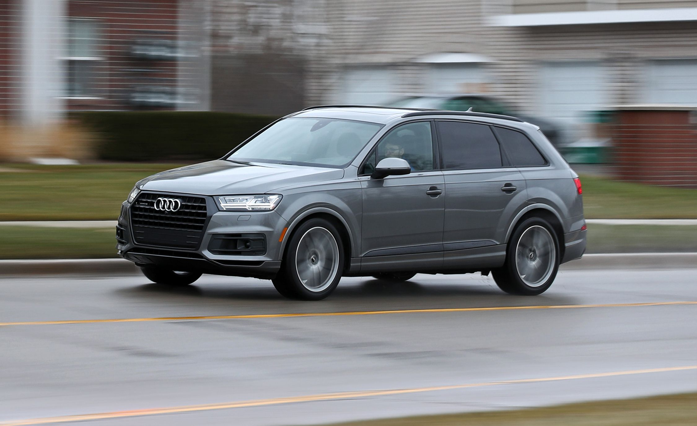 2018 audi q7 in depth model review car and driver rh caranddriver com Audi Q7 Exhaust System Audi Q7 Bumper